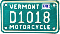 1980 Vermont Motorcycle License Plate