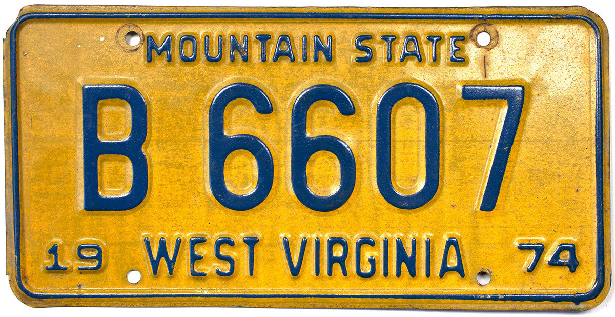 1974 West Virginia Truck License Plate