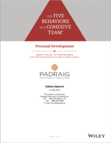 Five Behaviors of a Cohesive Team - Personal Development Report