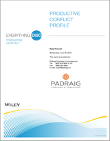 Everything DiSC Productive Conflict Assessment and Profile