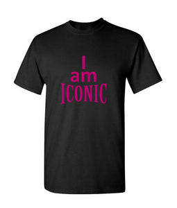 """I Am Iconic"" T-Shirt (Black)"