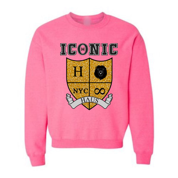 """Mercy"" Sweatshirt (Glitter) - Bright Pink"