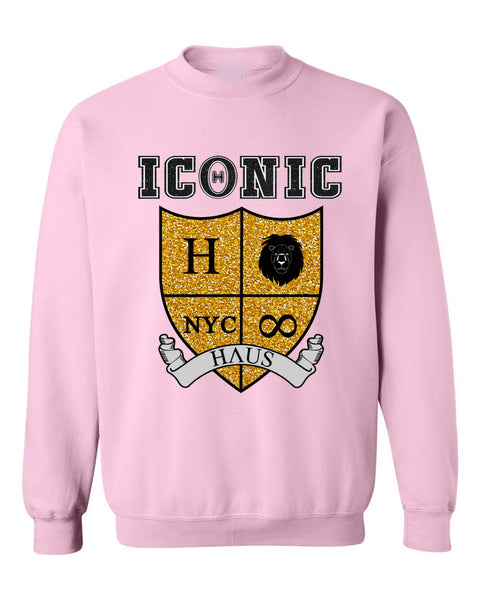 """Mercy"" Sweatshirt (Glitter) - Light Pink"