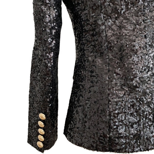 Black Sequin Blazer