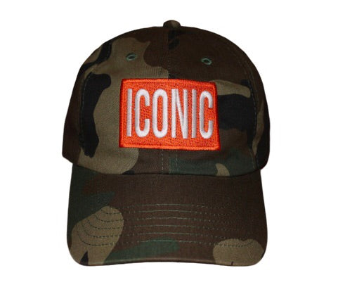 """Street Art"" Camo Hat - Orange Bar"