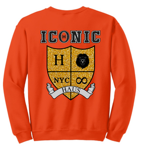 """Mercy"" Sweatshirt (Glitter) - Orange"