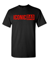 """Iconic Dad"" T-Shirt (Black w/Red)"
