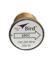 Bird 250C Plug-in Element 0 to 250 watts 100 to 250 MHz for Bird 43 Wattmeters