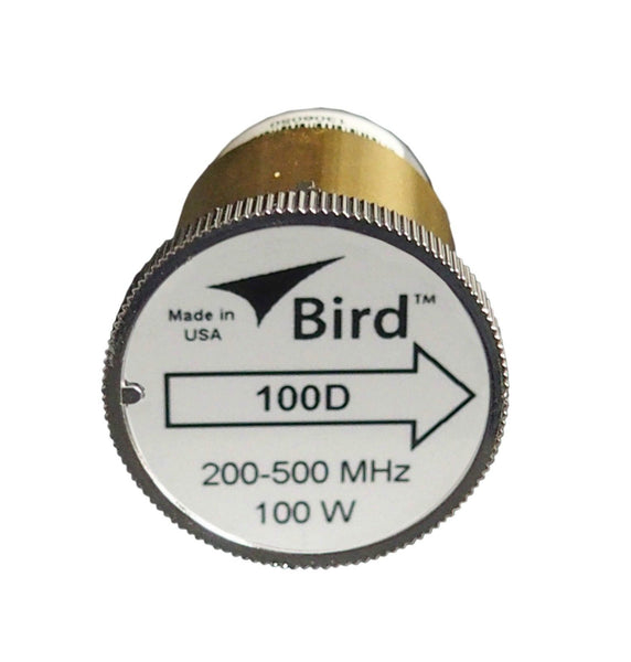 Bird 100D Plug-in Element 0 to 100 watts 200-500 MHz for Bird 43 Wattmeters