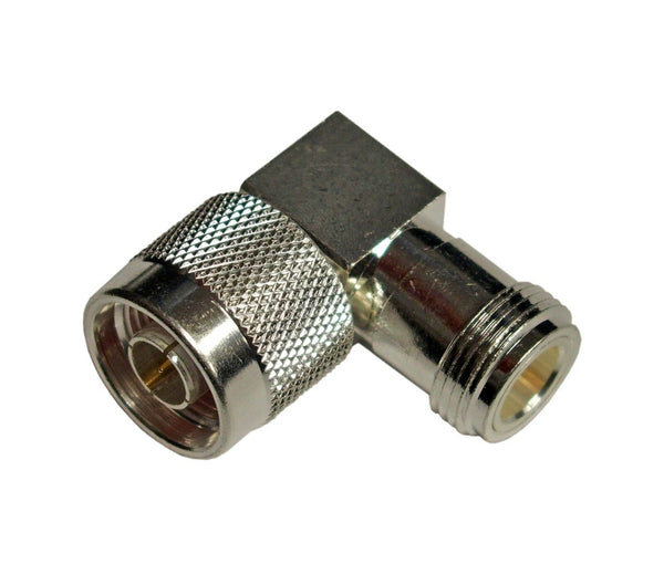 One High Quality Silver Teflon N Female  to N Male Right Angle Connector