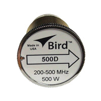 Bird 500D Plug-in Element 0 TO 500 watts 200-500 MHz for Bird 43 Wattmeters
