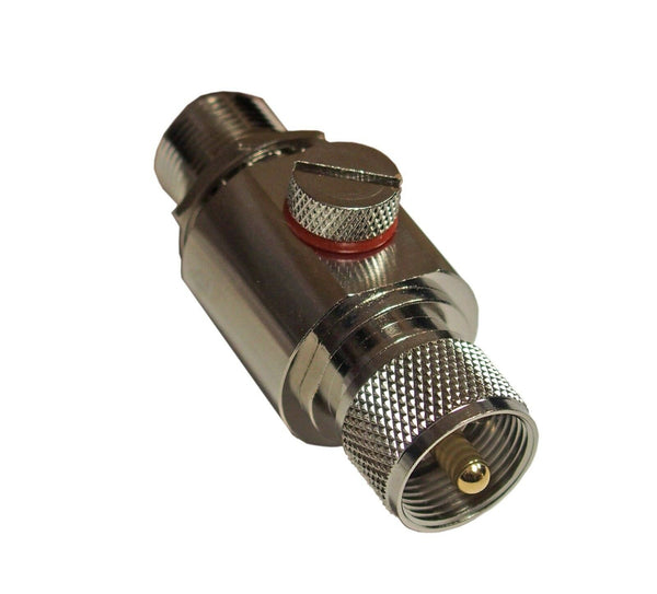 High Quality In-Line Coaxial Lightning Arrestor UHF M/F