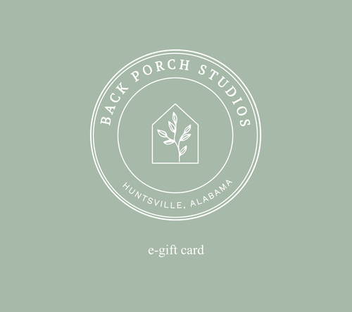 Back Porch Studios E-Gift Card