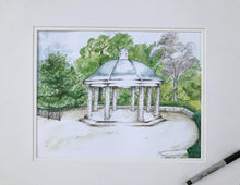 Gazebo at Burritt on the Mountain watercolor painting by Lisa Aldridge