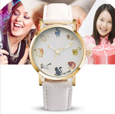 Cat Lovers Fashion Watch