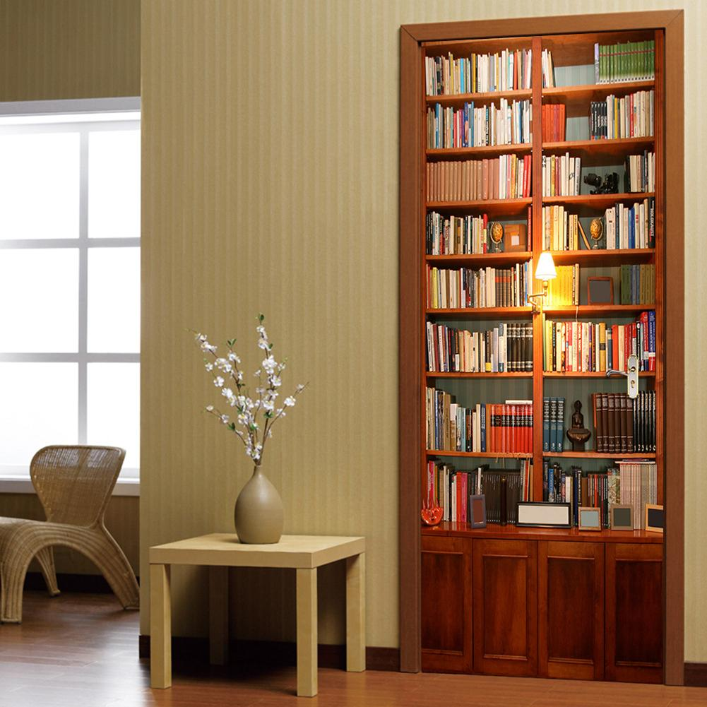 2 pcs/set  Retro Book 3D Wall Sticker