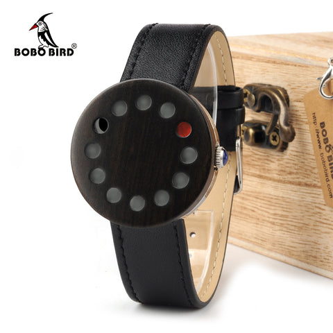 WC12 12holes Brand Design Wood  Mens Watch