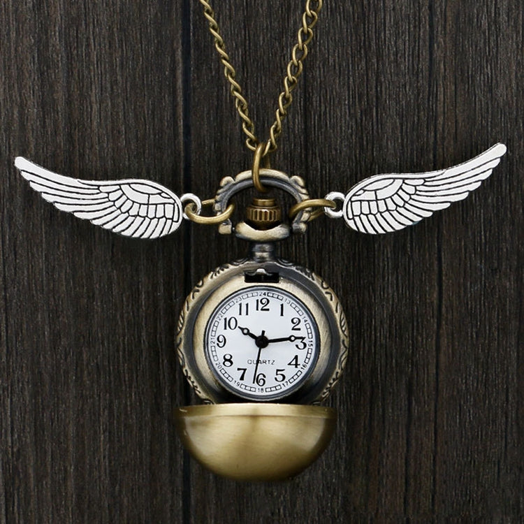Golden Snitch Wings Watch Necklace