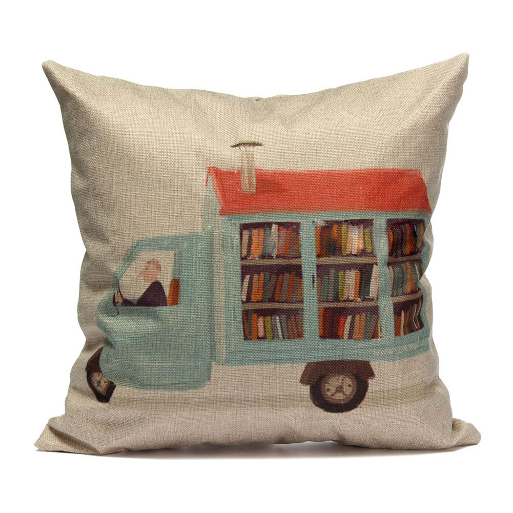 Vintage Book Lover Pillow Case