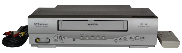 The Emerson EWV404 VHS Player Brings Convenience, Comfort, and Quality