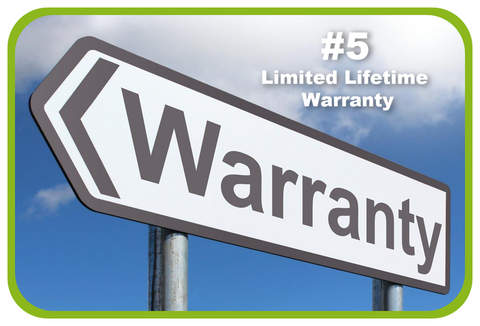 limited lifetime warranty on all products