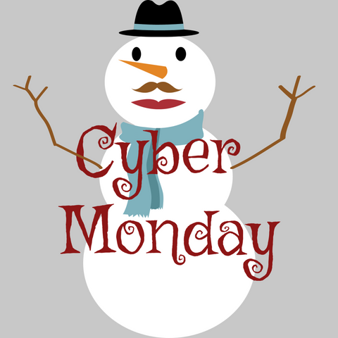 Cyber Monday Snowman Excited