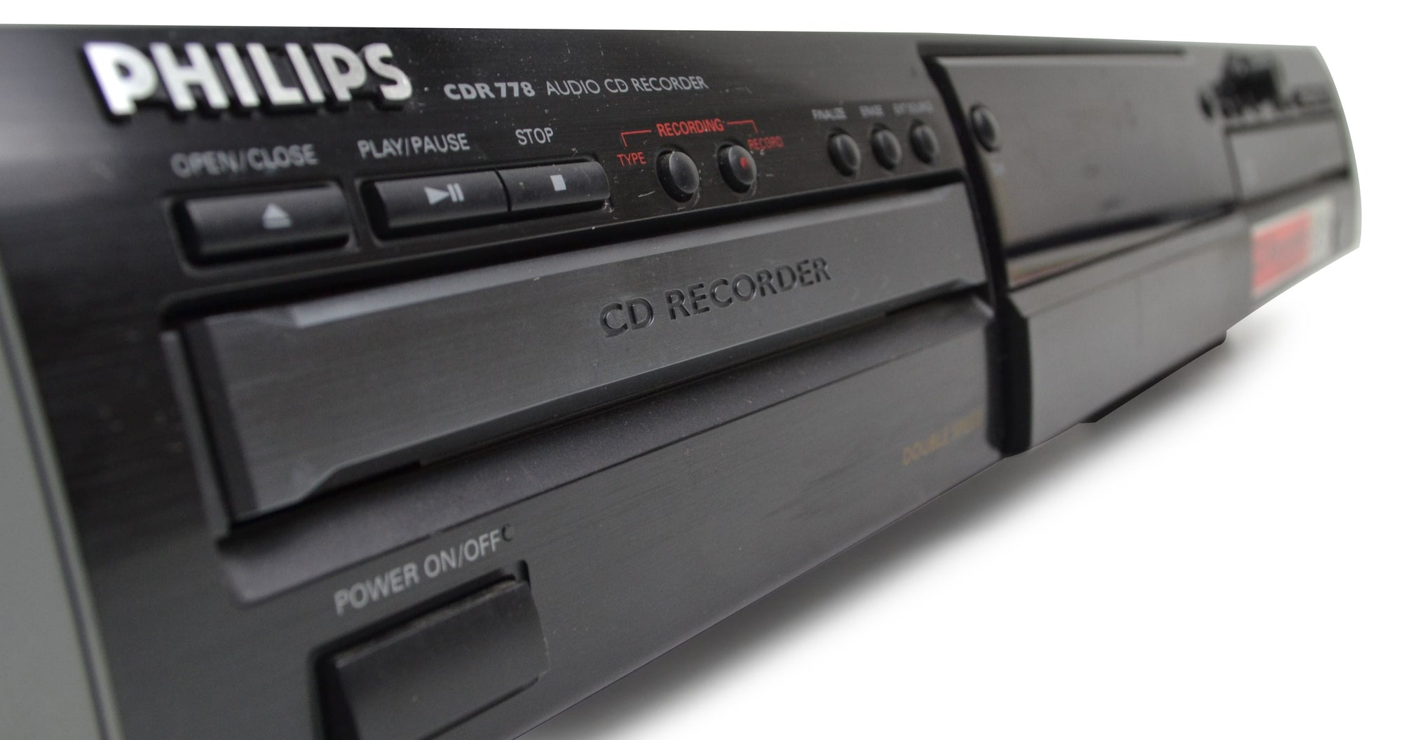 Philips CD recorder dual tray cool picture angle