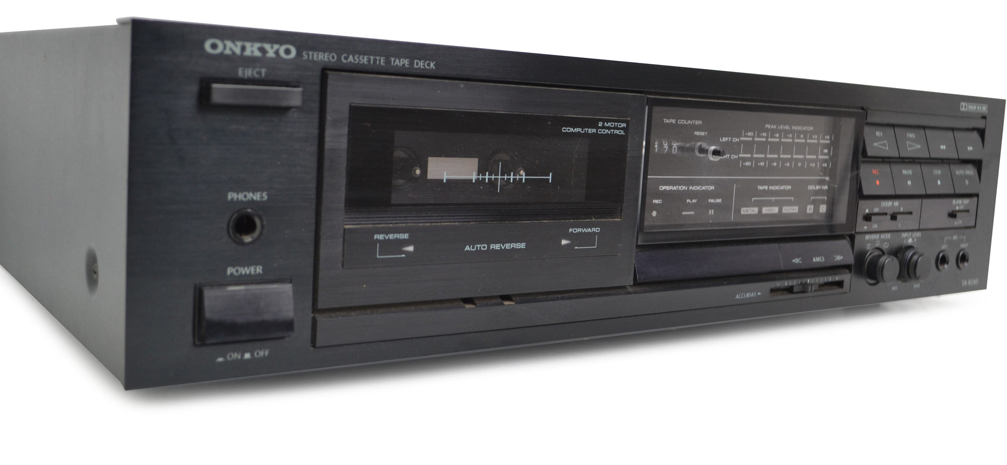 Onkyo Cassette deck single with counter and auto reverse
