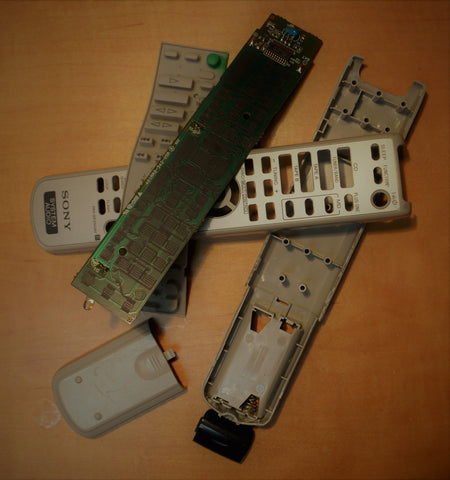 Sony remote control taken apart completely