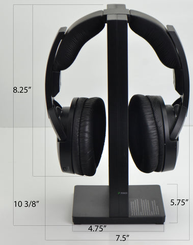 What are the dimensions of the Sony MDR-RF985R wireless headphone set?