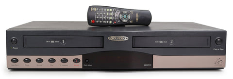 Go Video Dual Deck DVD VCR Combo Player