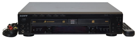 Sony dual tray 5 disc cd player changer recorder