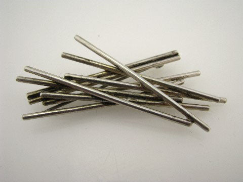 Modernist pin of dynamic sterling rods, ca. 1960s