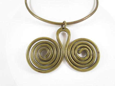 Artist Made Wire Work Choker Necklace ca. 1960s