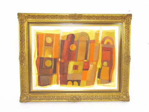 Mid-Century Abstract Oil Painting by Robert di Giovanni, circa 1960s