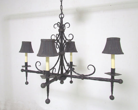 French modernist wrought iron chandelier modhaus french modernist wrought iron chandelier mozeypictures Choice Image