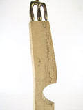 Modernist Abstract Bronze and Carved Wood Sculpture by Jeff Borden, circa 1960s