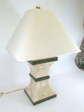 Tessellated Fossil Stone and Marble Lamp by Maitland Smith