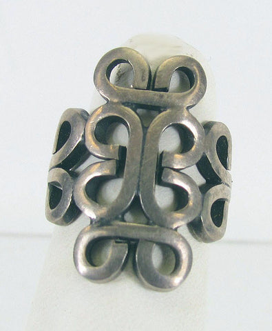 Sterling Openwork Mexican Silver Ring