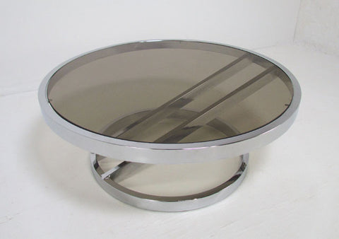 Zig Zag Chrome Coffee Table by Milo Baughman circa 1970s