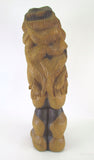"Carved Wood Mid-Century Sculpture Titled ""Miss Num"" by Diane Derrick"
