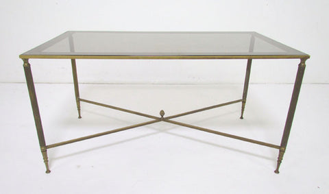 Hollywood Regency Cocktail Coffee Table in the Style of Maison Jansen