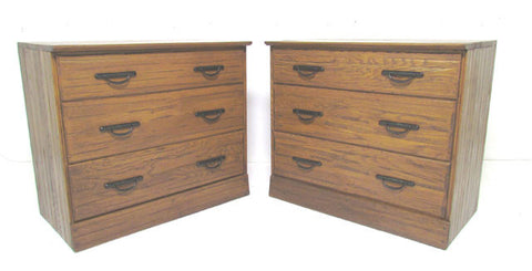 Pair of Ranch Oak Dressers by A. Brandt Furniture Co. circa 1960s