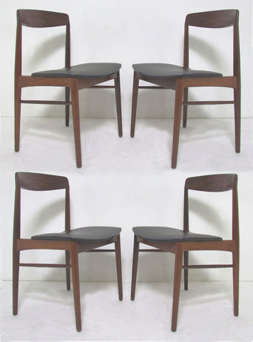 Set Of Four Danish Teak Dining Chairs By SAX, Circa 1960s