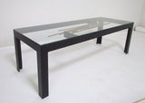 Brutalist Studio Coffee Table with Sculptural Center Element