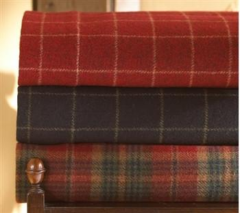 Wool Plaid Coverlet - GDH | The decorators department Store