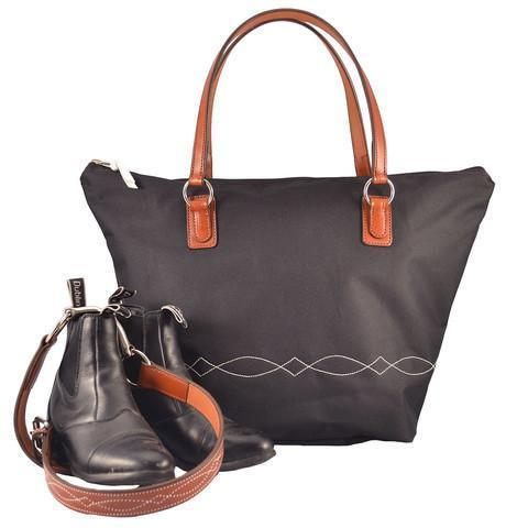 Lightweight Bridle Stitch Tote Black
