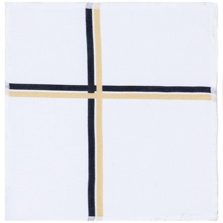 Stanton Oversized Cocktail Napkin-Set of 4 Black/Gold - GDH | The decorators department Store