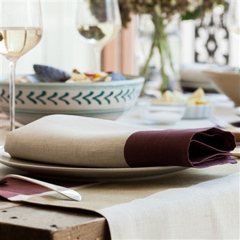 Cinta Linen Napkin | Burgundy - GDH | The decorators department Store
