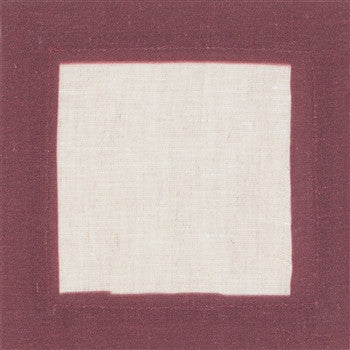 Cinta Linen Cocktail Napkins | S/4 | Burgundy - GDH | The decorators department Store